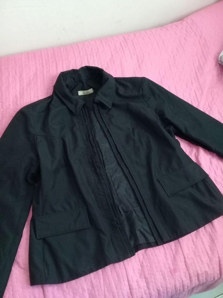... jaqueta preta fashion ... - blusas animale