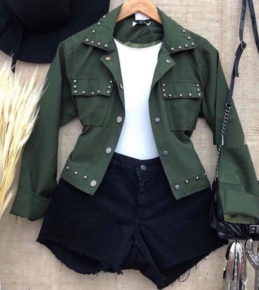 jaqueta tachas - casaquinhos sem marca