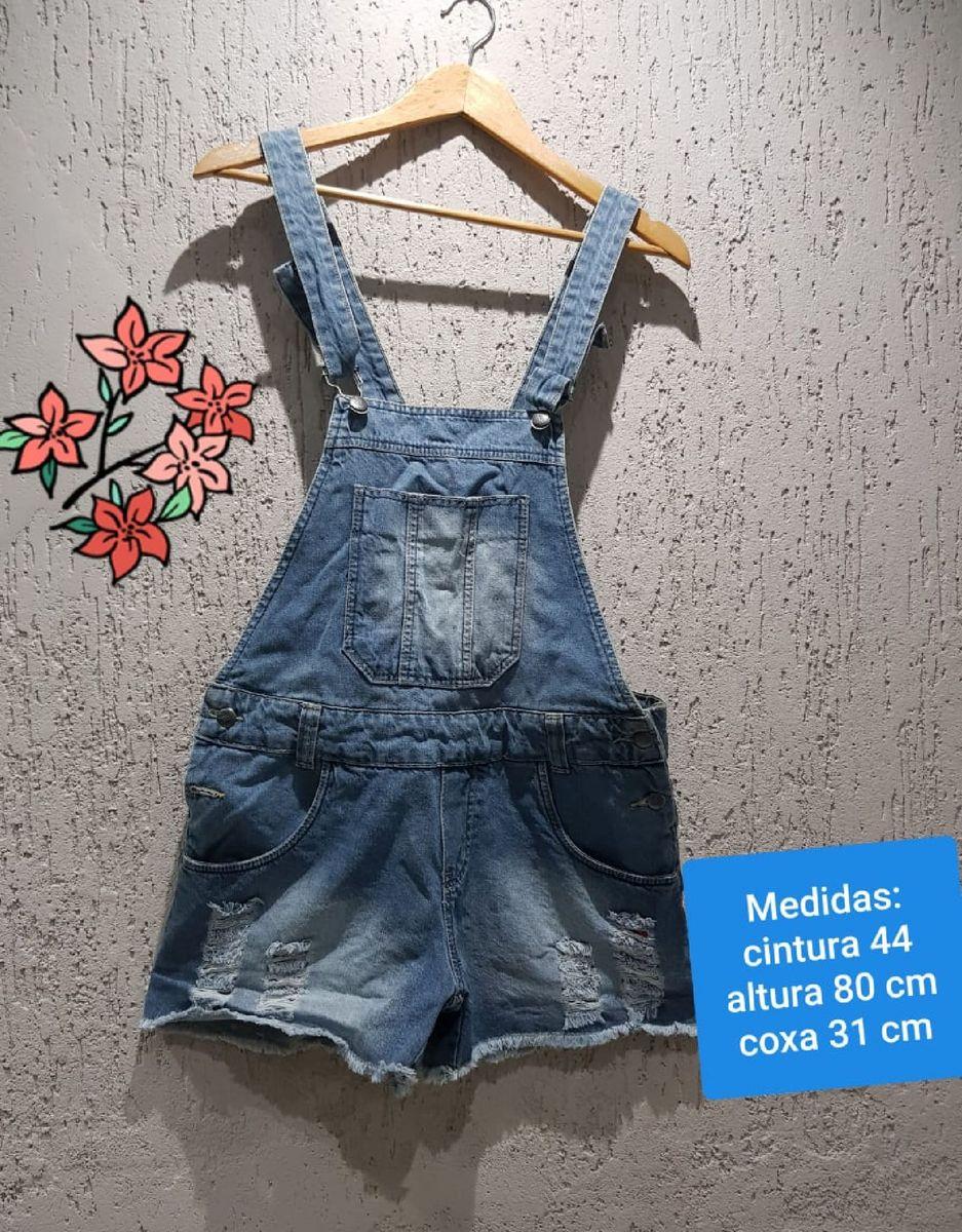 jardineira jeans linda - macacão bivic