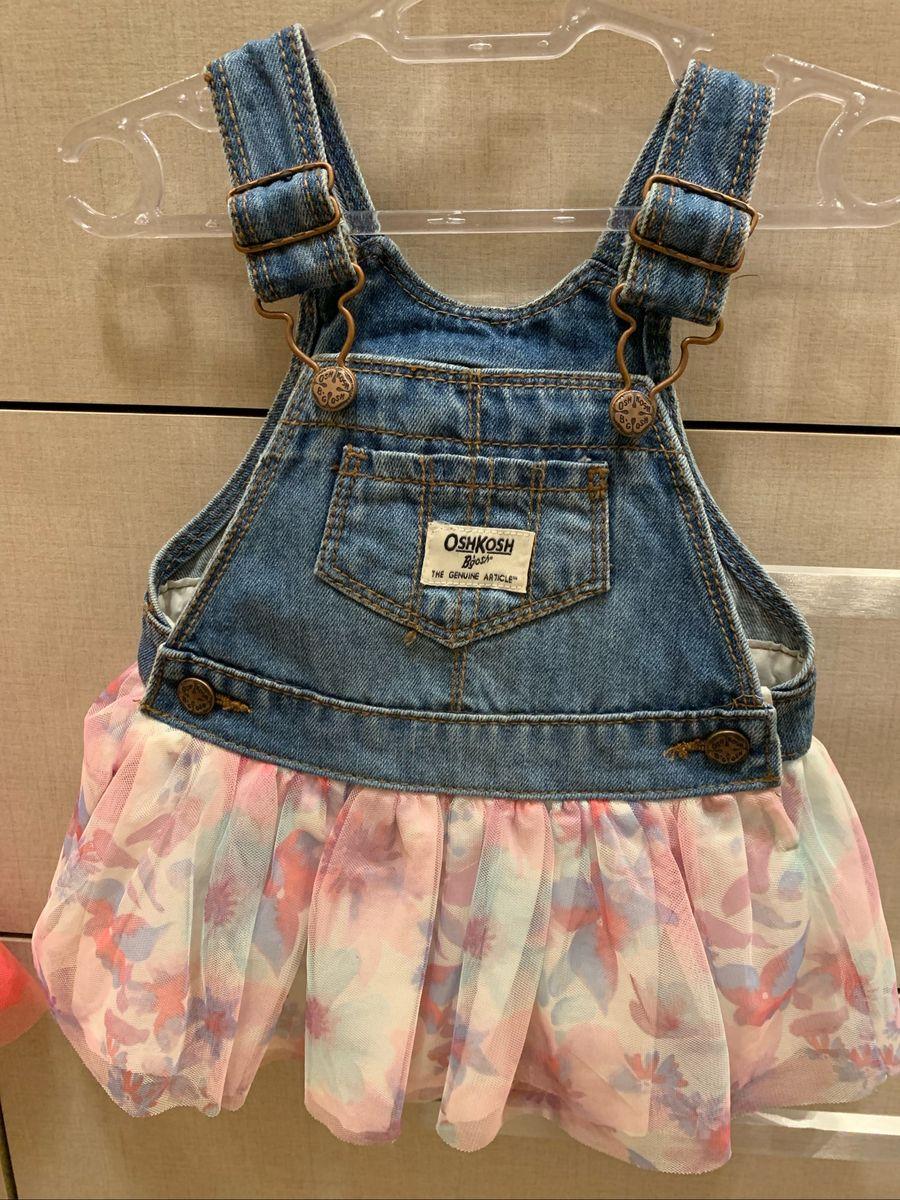 Jardineira Oshkosh Com Tule Roupa Infantil Para Bebe Oshkosh Nunca Usado 37057936 Enjoei