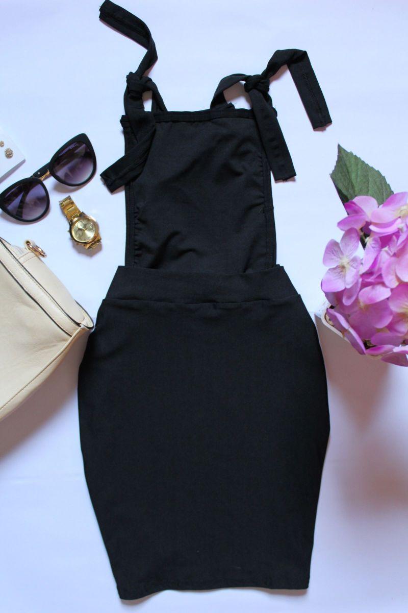 jardineira preta - vestidos sem marca