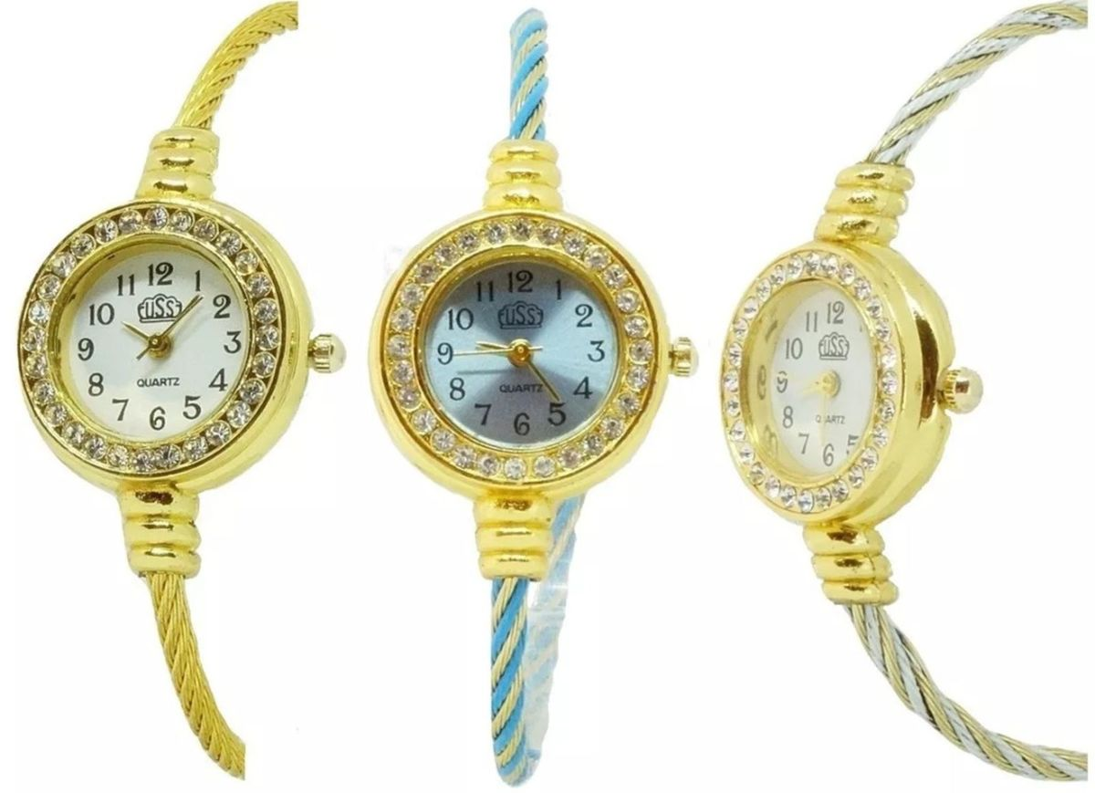 4ced133b943 Kit 10 Relógios Femininos Luxo Atacado Barato Revenda Oferta ...