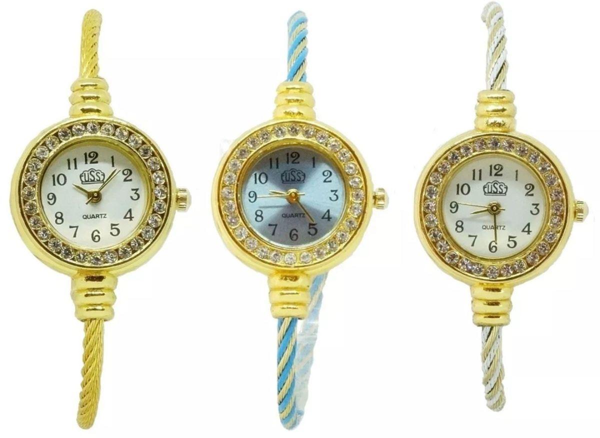 ca6f911b47b kit 10 relógios femininos luxo atacado barato revenda oferta - relógios  fikadikka