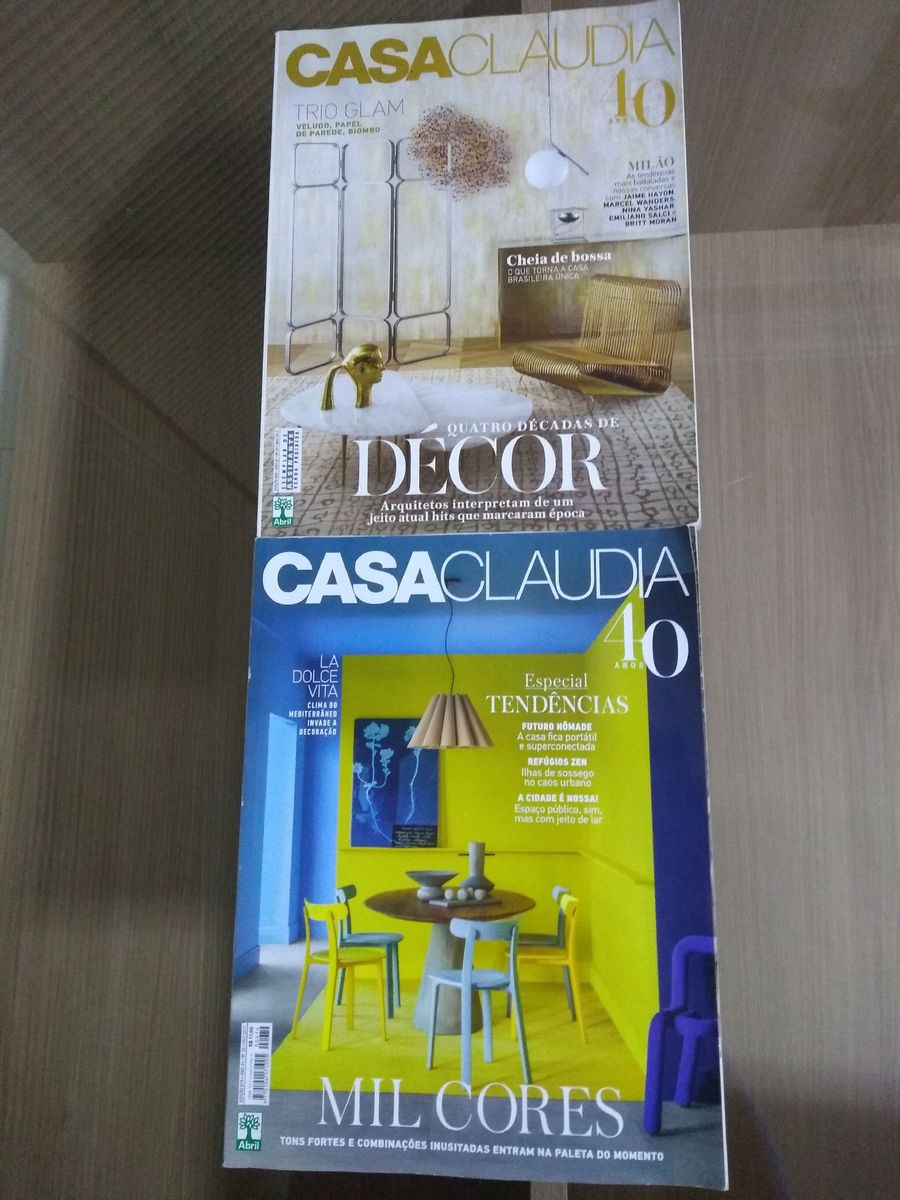 kit 2 revistas casa claudia - livraria editora-abril