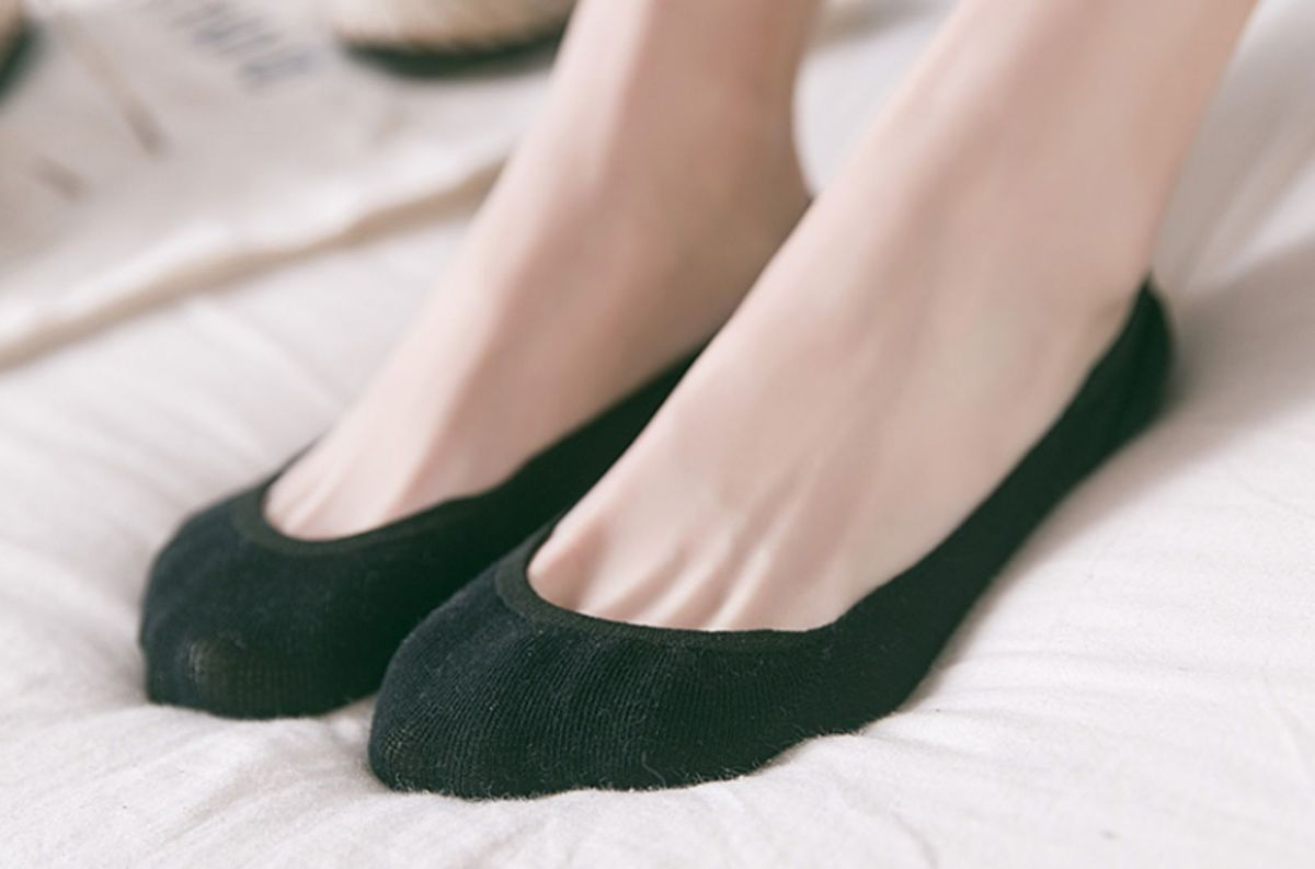 8604ec5d2 kit 20 pares meia algodão invisível sapatilha feminina c/silicone - meia-calça  iris