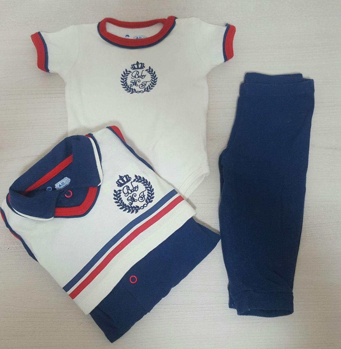 kit 3 peças ( body/calça/macacão) - bebê havefun