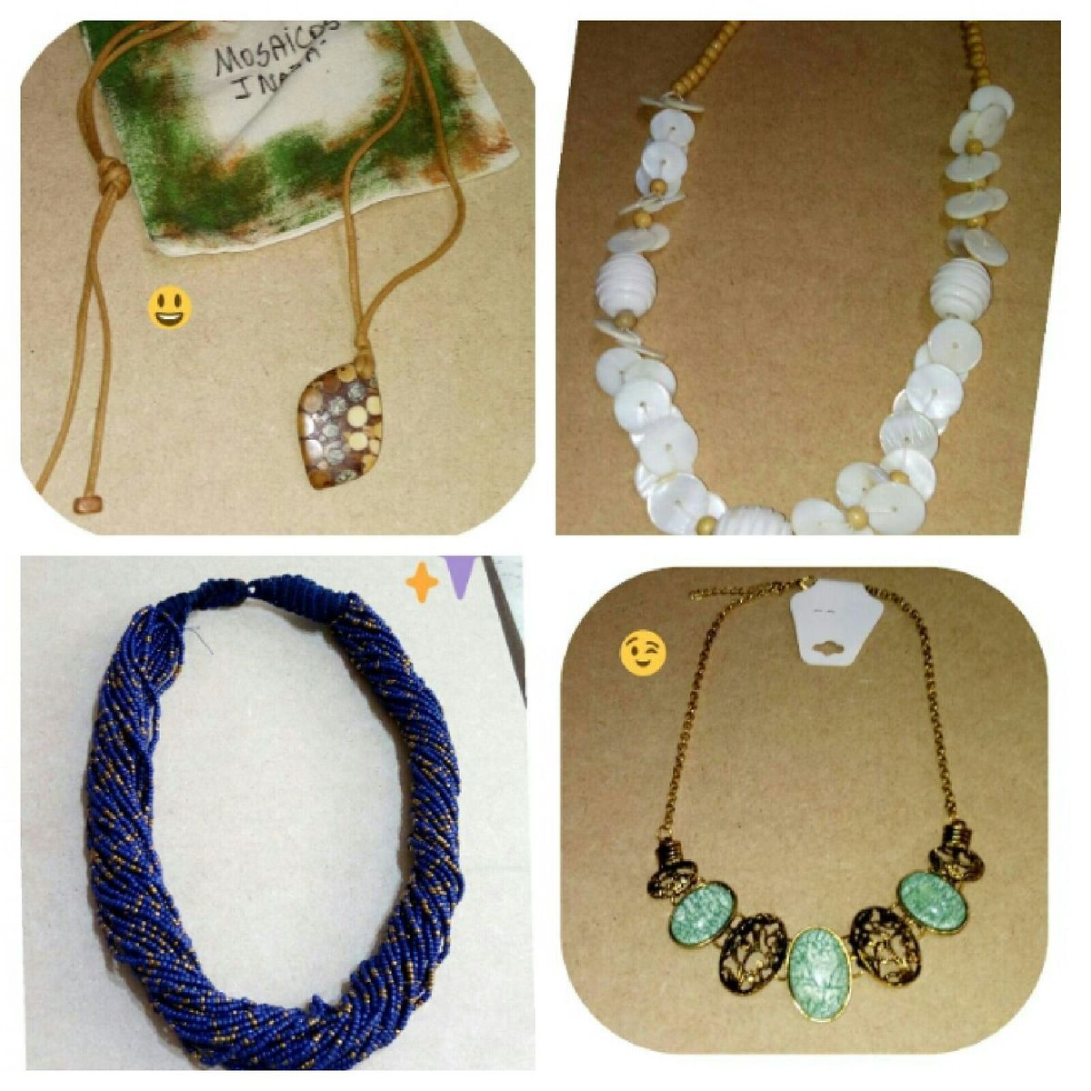 kit colares novos - bijoux bijoux