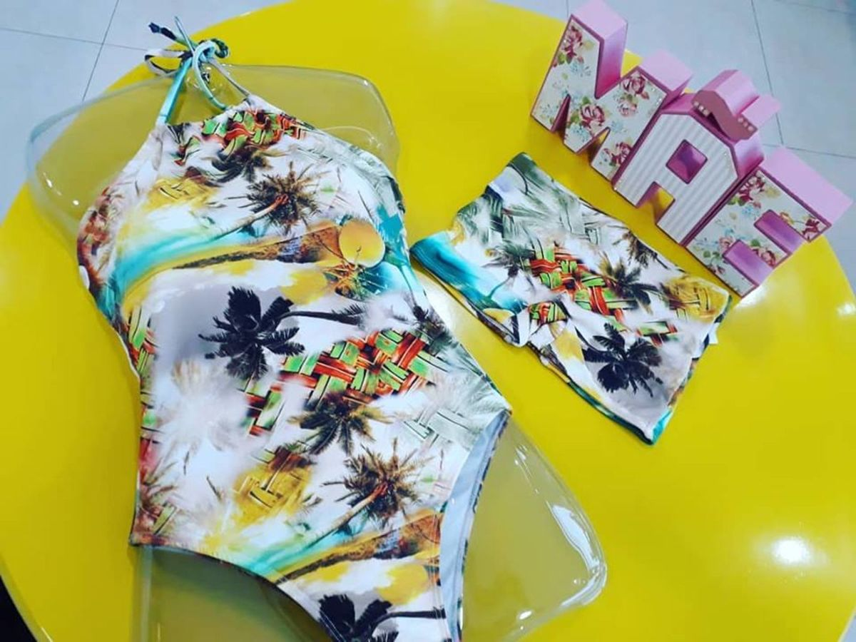 bafff1d24 Kit Maiô Frente Unica + Sunga Box Infantil | Moda Praia Feminina ...