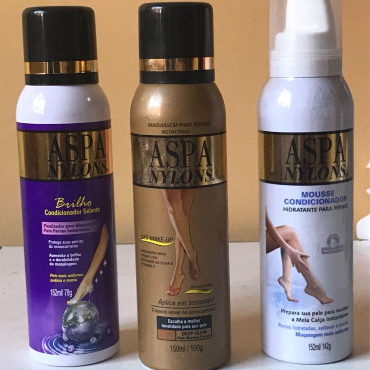 923711b65 Kit Maquiagem para Pernas Meia Calça Spray Morena Escura - Aspa Nylons