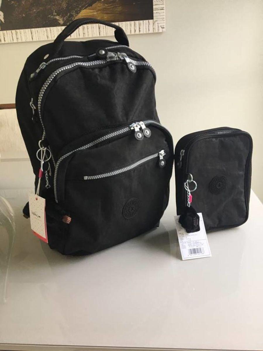 e9f375c46 kit mochila e estojo 100 pens kipling novos com etiqueta - mochila kipling