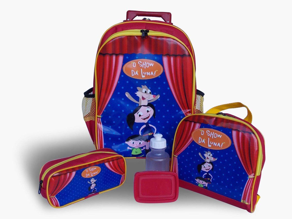 0992c808b Kit Mochila Infantil Show da Luna Tam G | Item Infantil Nunca Usado ...