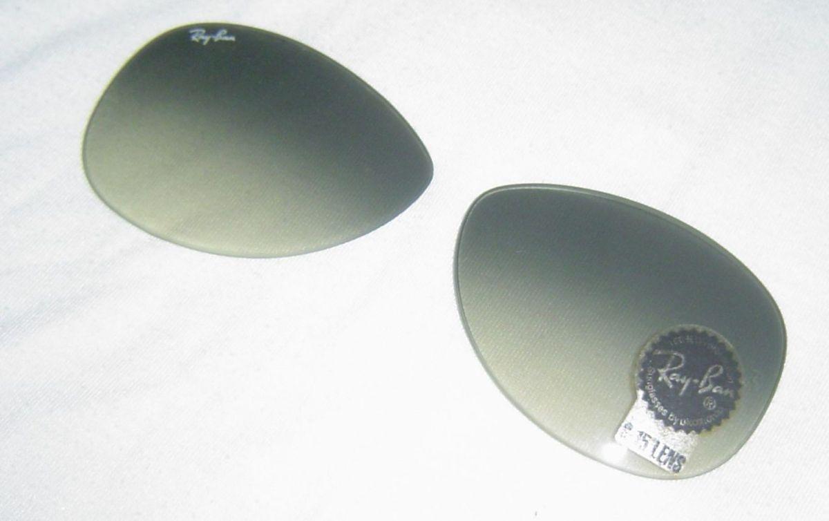 9fd1dbd16 lente original do ray ban g-15lens - com selo de garantia. - outros