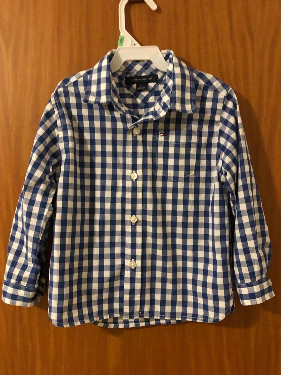 linda camisa xadrez tommy hilfiger - bebê tommy hilfiger 339fdf359a4dd