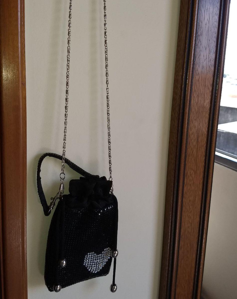 linda mine bolsa para noite / porta celular / porta maquiagem - ombro sem marca