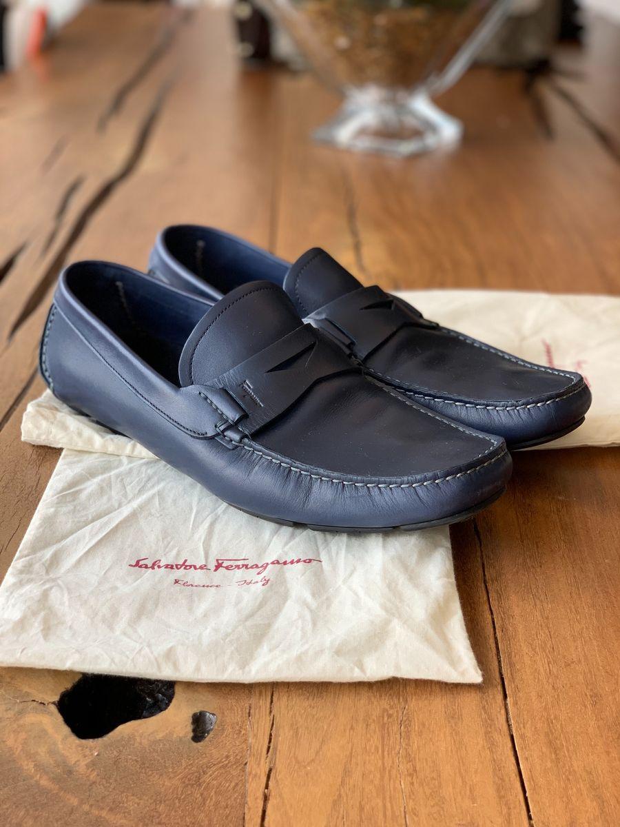 dd067d2dc9ccb lindo sapato em couro mocassim salvatore ferragamo novo - sapatos salvatore  ferragamo
