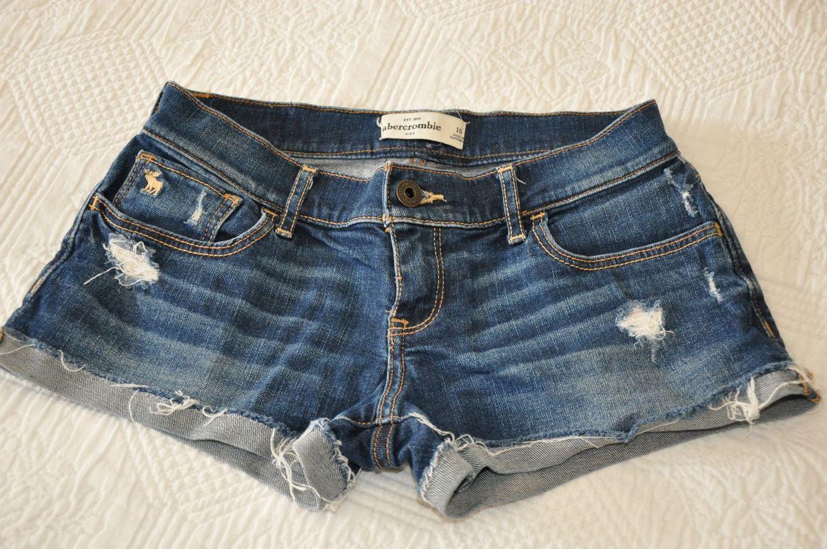 lindo shorts da abercrombie - menina abercrombie & fitch