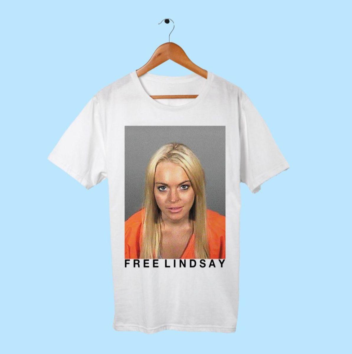 lindsay lohan - camisetas sem marca