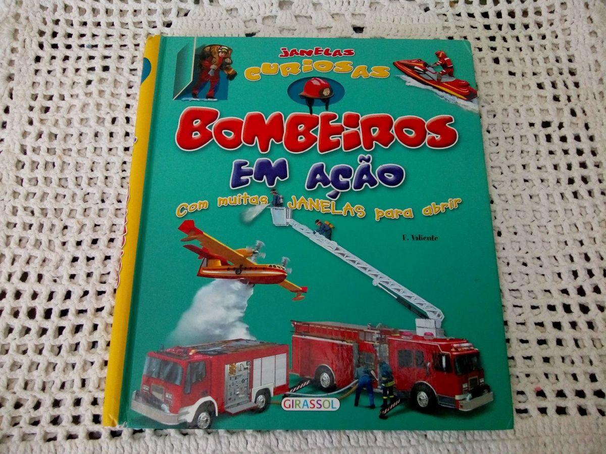 livro bombeiros em ação editora girassol - livraria girassol
