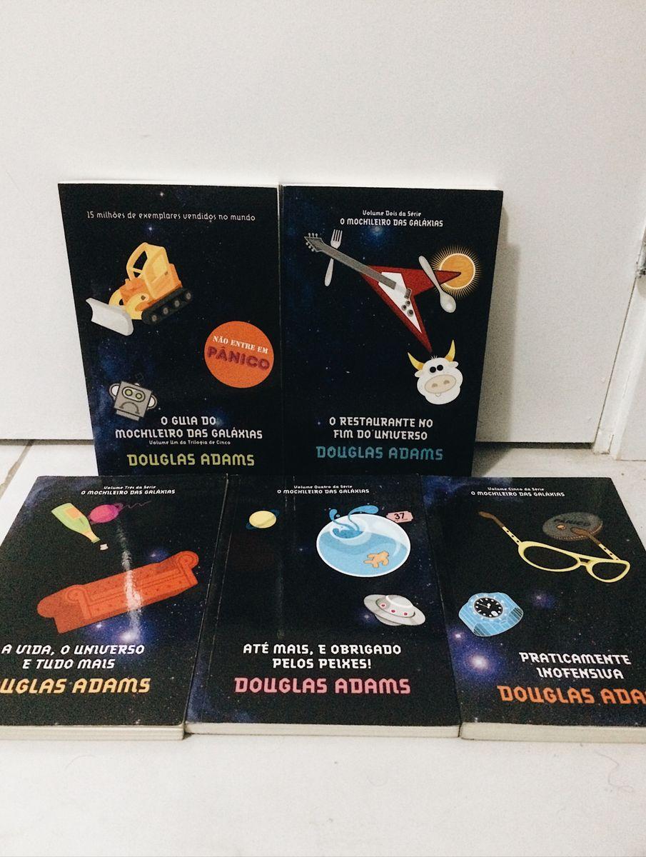 livro - coleção douglas adams - 5 volumes - livraria sem marca