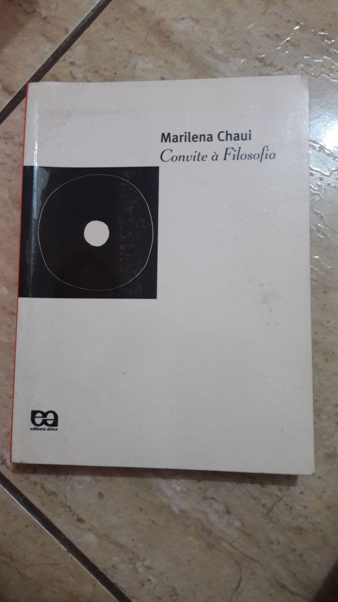 Livro Convite à Filosofia Marilena Chauí Livro Usado 30154010 Enjoei