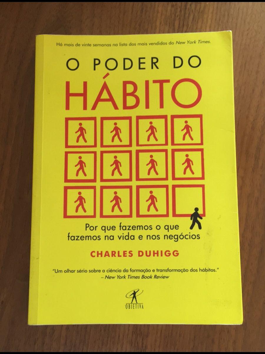 livro o poder do hábito - livraria objetiva
