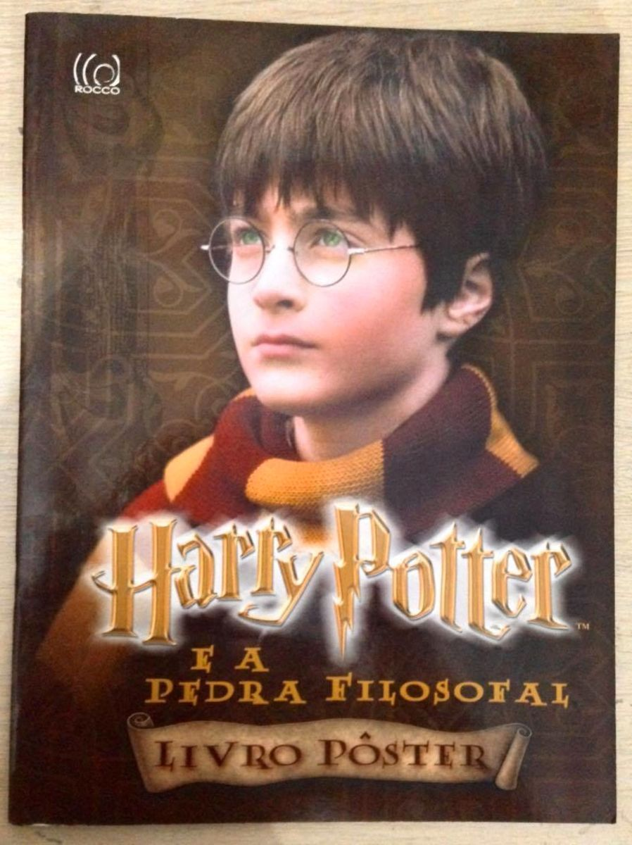 livro poster harry potter e a pedra filosofal filme e serie rocco usado 36577400 enjoei livro poster harry potter e a pedra filosofal
