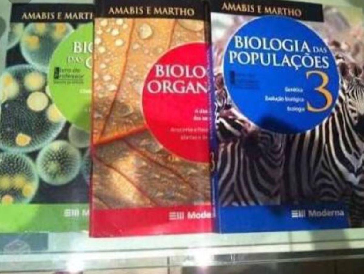 livro de biologia amabis e martho para