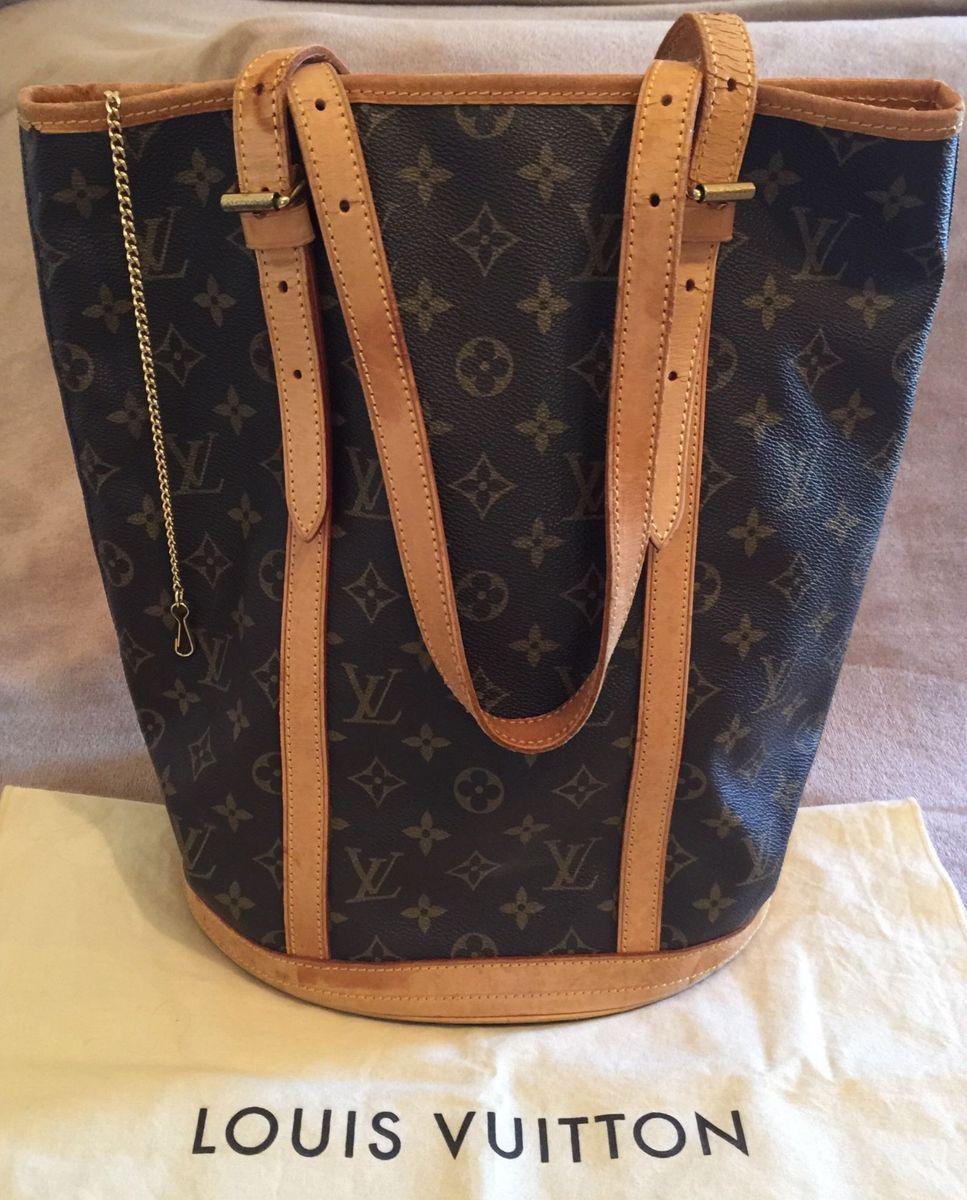 7969680510de Louis Vuitton Bucket Original   Bolsa de Ombro Feminina Louis ...