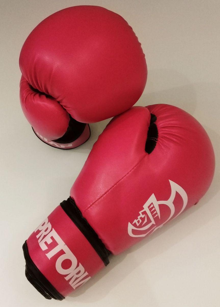 6bba9989e luva de boxe muay thai pretorian first 12 oz rosa - esportes e outdoor  pretorian