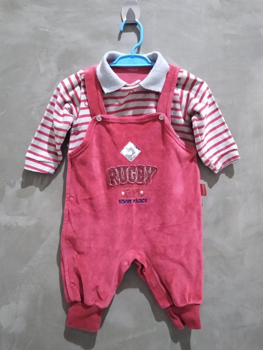 macacão de plush infantil - bebê sem marca