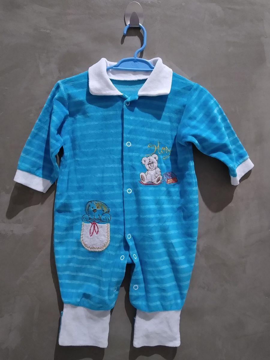 macacão infantil de plush - bebê sem marca