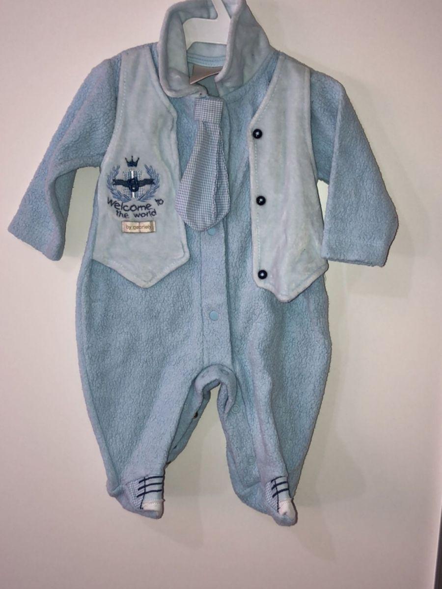 macacão inverno bebê masculino - macacão sem marca 5b8650dbbe1