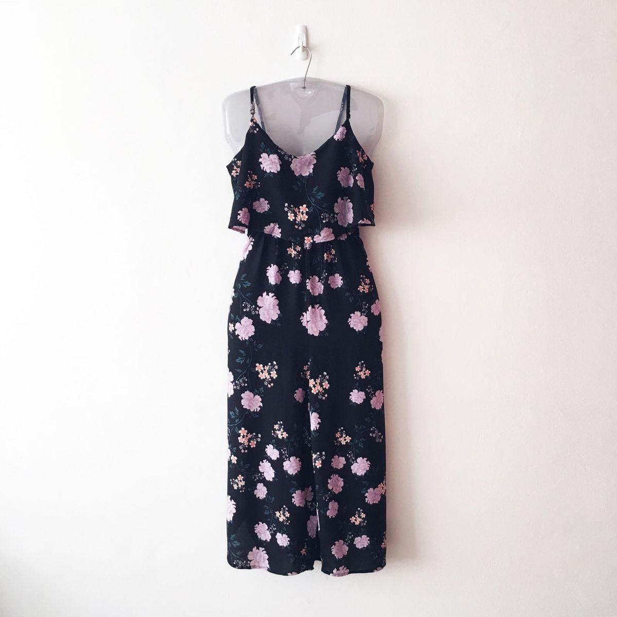 f060841135 macacão pantacourt floral tendência fashion básico estampado longo  romântica verão midi enjoei pro. - vestidos