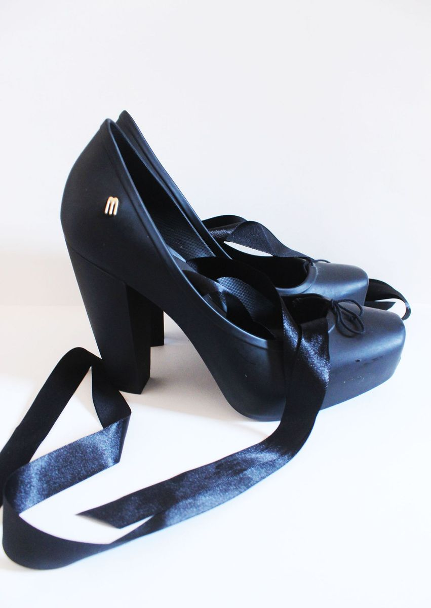 melissa bailarina salto alto - sapatos melissa