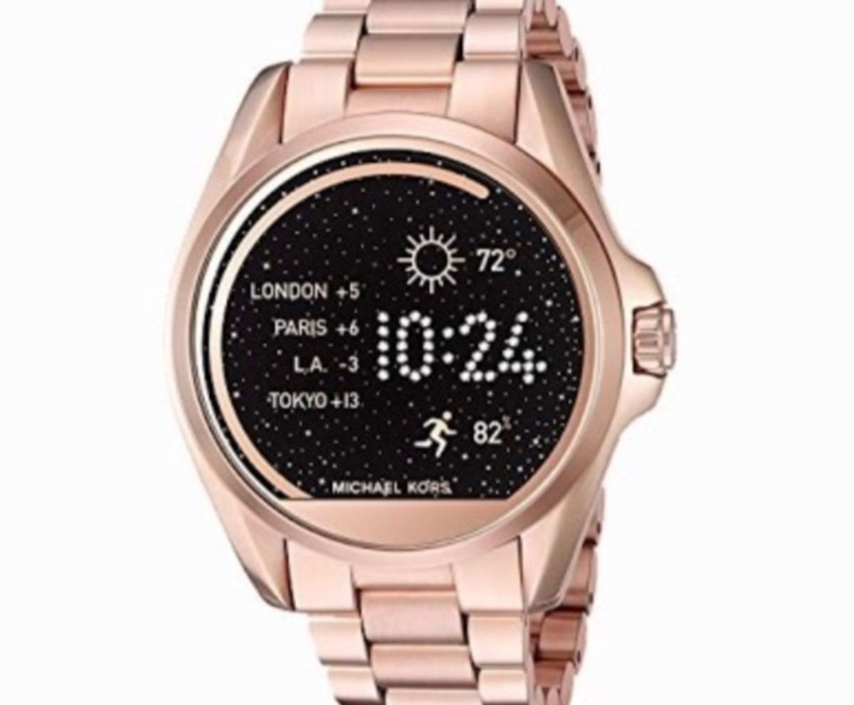 550d054f739df michael kors access touch screen rose gold bradshaw smartwatch - mkt5004 - relógios  michael kors