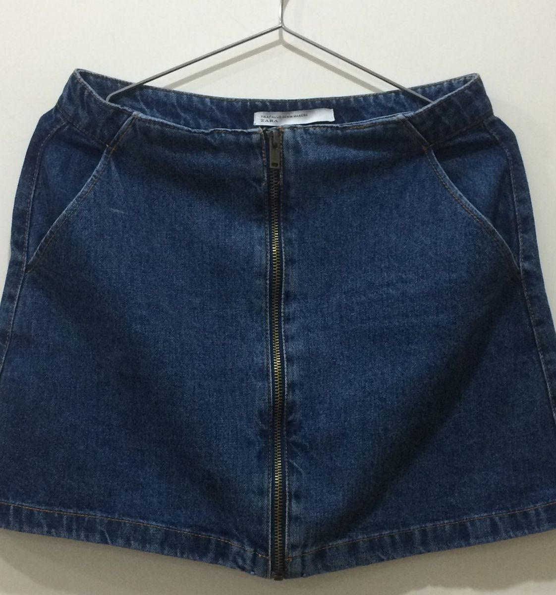 752af9c745 mini saia jeans zara - saias trafaluc denim makers