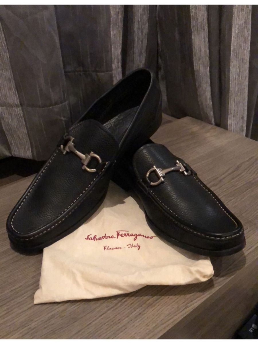ad4d01c722f9c mocassim preto da salvatore ferragamo - sapatos salvatore ferragamo