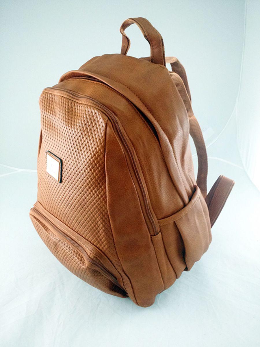 f1b6e7ccc mochila bolsa feminina couro sintético, trabalho, escola - mochila bella  paula