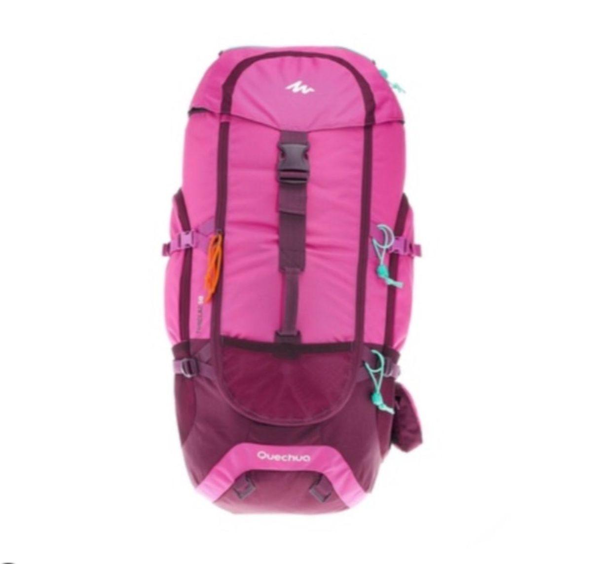 3c2850f2e mochila de trekking forclaz 50 litros feminina quechua - mochila quechua