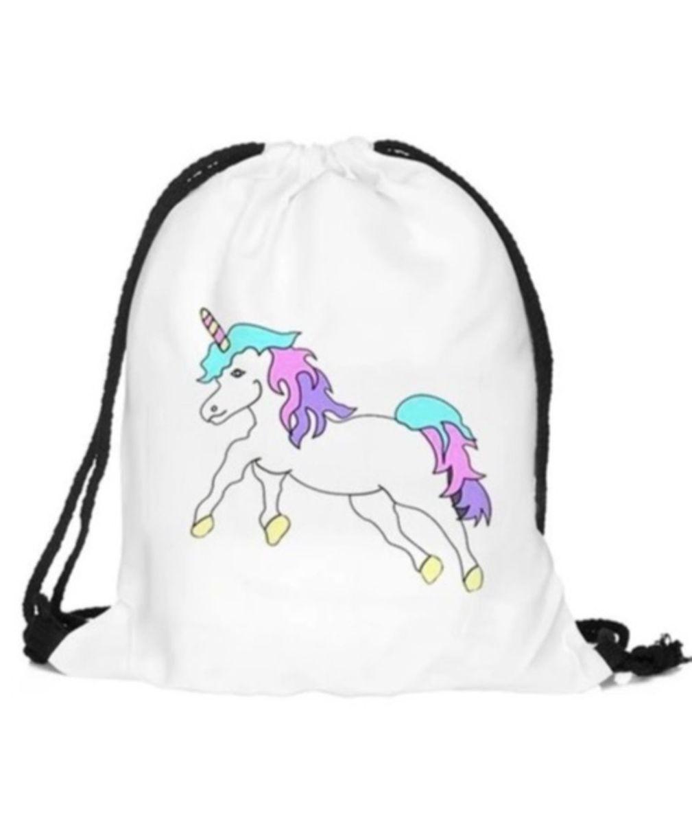 20ed9cfc3 mochila estilo saco unicornio - malas sem marca.  Czm6ly9wag90b3muzw5qb2vplmnvbs5ici9wcm9kdwn0cy80mty5ntuvntk5m2nimtc1owi4yzuyzgzjztk1mduyyza5zmy5ywyuanbn