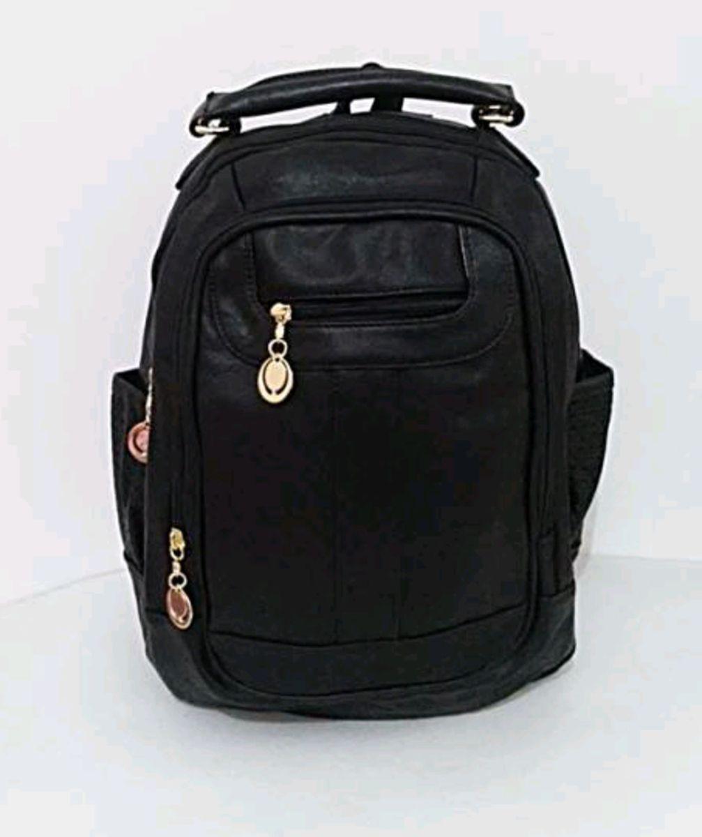 329af151b mochila feminina média couro sintético faculdade escolar trabalho. -  mochila importado