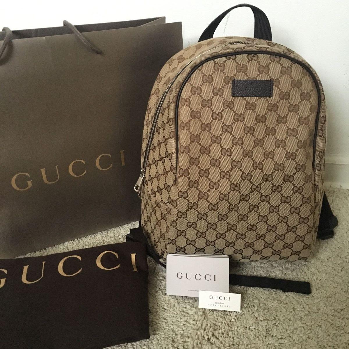 28f8d5732 Mochila Gucci Canvas Gg Backpack | Mochila Feminina Gucci Usado 19717327 |  enjoei