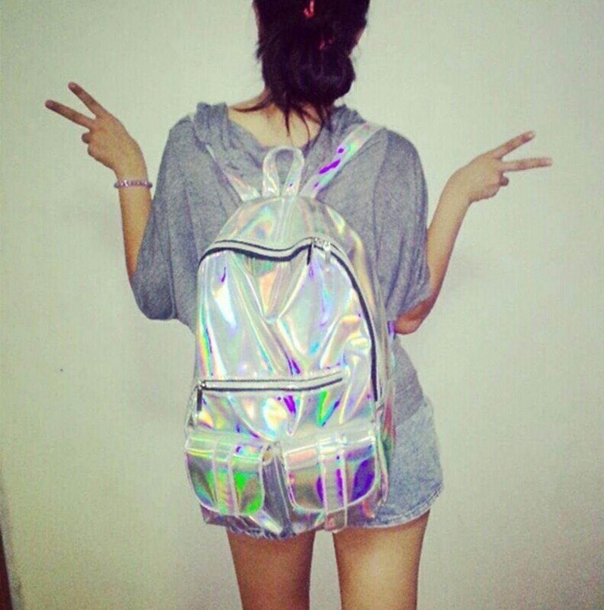 mochila holográfica - mochila sem marca