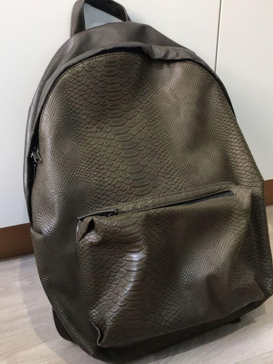 77c16337a Mochila Masculina de Couro Sintético | Bolsa Masculina Nunca Usado ...