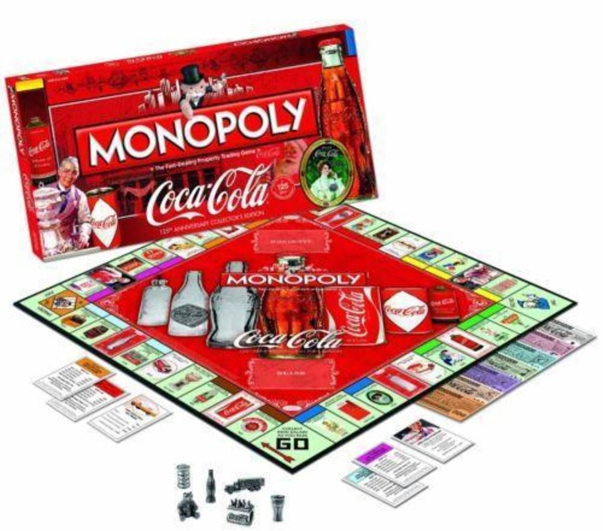 monopoly coca cola banco imobiliário colecionador raro - tabuleiro monopoly