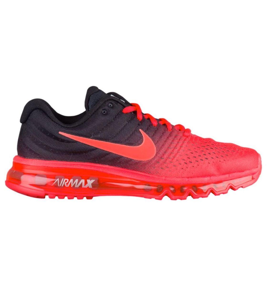 fdadf822186 nike air max 2017 vermelho e preto tênis - tênis nike