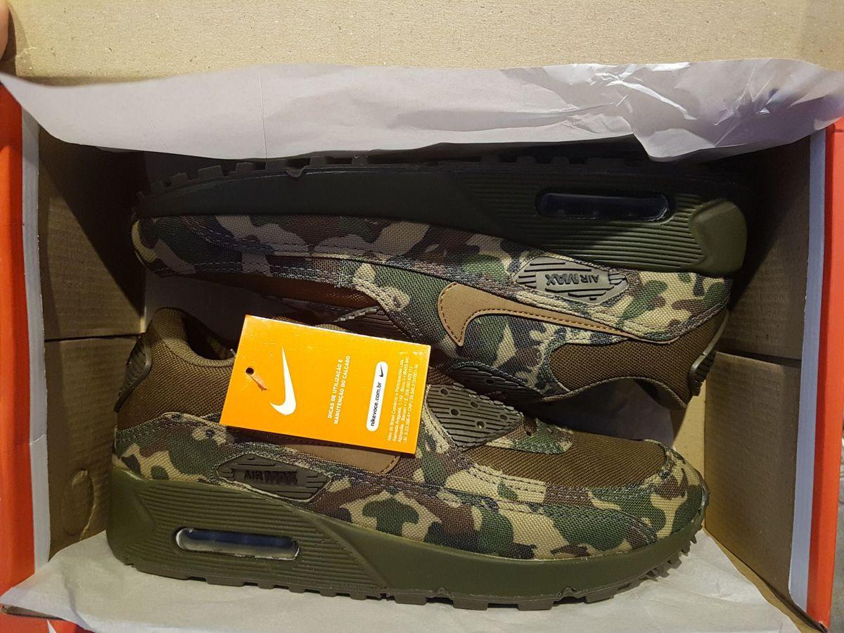 ff1ba9277c Nike Air Max 90 Camuflado Exército Novo Na Caixa com Etiqueta Original  Importado