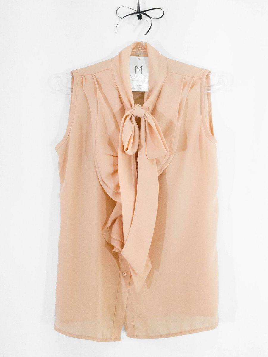 nova! blusa de laço rosé (p) - blusas xá doce