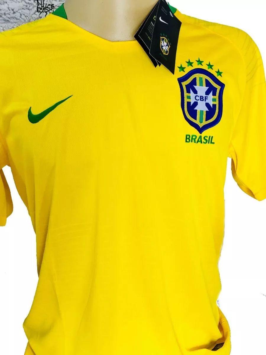 aaab031296 nova camisa futebol seleção brasileira oficial copa 2018 - camisas nike