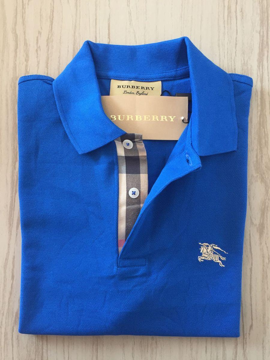 670b1454b2 nova polo burberry london england azul - camisas burberry